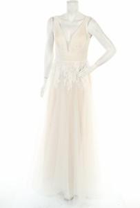 Sukienka Magic Bride z dekoltem w kształcie litery v bez rękawów maxi