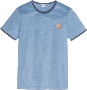Błękitny t-shirt bonprix John Baner JEANSWEAR z krótkim rękawem
