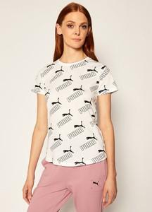 T-shirt Puma z okrągłym dekoltem z krótkim rękawem w sportowym stylu