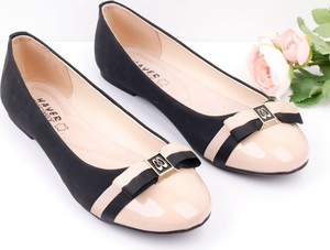 Czarne baleriny Yourshoes ze skóry