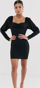 Czarna sukienka Missguided z długim rękawem