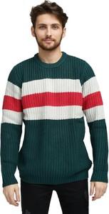 Zielony sweter Wrangler z okrągłym dekoltem