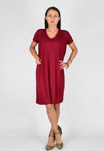 Sukienka Collibri z krótkim rękawem midi