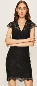 Sukienka Morgan mini z dzianiny z dekoltem w kształcie litery v