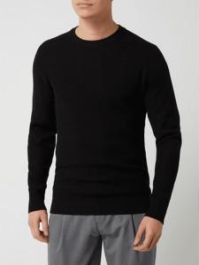 Czarny sweter Selected Homme z bawełny w stylu casual