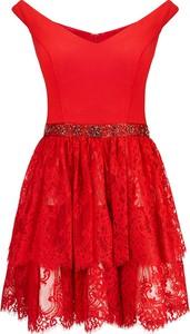 Sukienka La Poudre™ rozkloszowana w stylu glamour