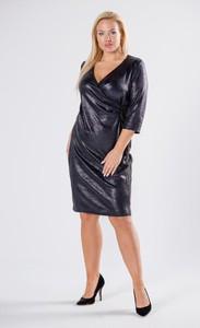 Sukienka Moda Dla Ciebie z długim rękawem midi