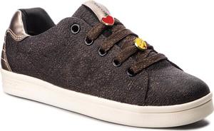 Brązowe buty sportowe dziecięce Geox sznurowane