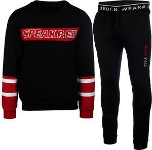 Czarny dres Neidio z bawełny w sportowym stylu