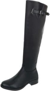 Czarne kozaki Elegrina przed kolano