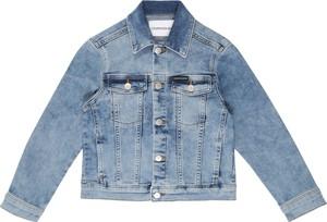 Niebieska kurtka dziecięca Calvin Klein z jeansu