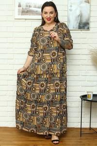Sukienka KARKO z dekoltem w kształcie litery v w stylu boho
