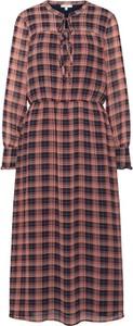 Sukienka Tom Tailor z długim rękawem z żabotem maxi