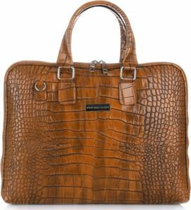 Brązowa torebka VITTORIA GOTTI duża w stylu retro z tłoczeniem