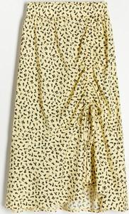 Żółta spódnica Reserved w stylu casual
