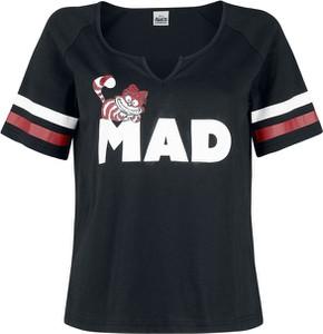 Czarny t-shirt Emp z krótkim rękawem z bawełny