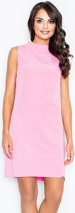 Różowa sukienka Figl bez rękawów mini