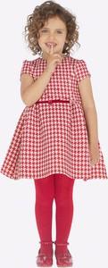 Sukienka dziewczęca Mayoral w krateczkę z tkaniny