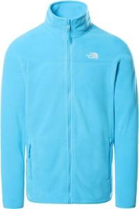 Niebieska bluza The North Face z polaru w sportowym stylu