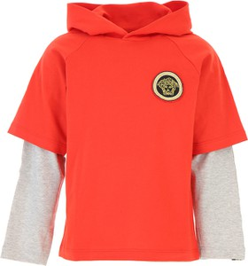 Czerwona koszulka dziecięca Versace z długim rękawem