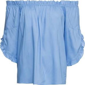 Błękitna bluzka bonprix RAINBOW hiszpanka w stylu casual