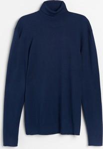 Granatowy sweter Reserved w stylu casual