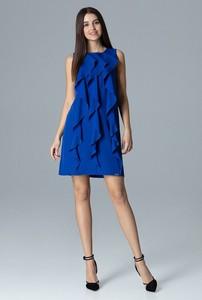 Sukienka sukienki.pl bez rękawów z okrągłym dekoltem