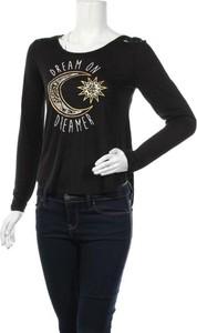 Czarna bluzka No Boundaries z okrągłym dekoltem w stylu casual