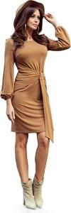 Sukienka NUMOCO z okrągłym dekoltem w stylu casual z długim rękawem