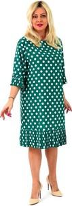 Zielona sukienka Roxana - sukienki w stylu casual midi z okrągłym dekoltem