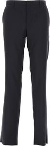 Granatowe spodnie Prada