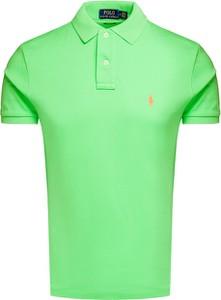 Zielony t-shirt POLO RALPH LAUREN z tkaniny z krótkim rękawem w stylu casual