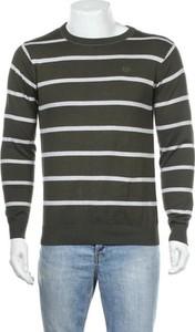 Zielony sweter Van Heusen z okrągłym dekoltem w młodzieżowym stylu