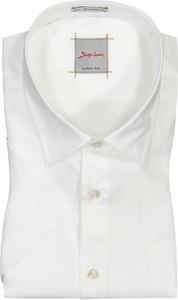 Koszula Signum z krótkim rękawem z bawełny z klasycznym kołnierzykiem