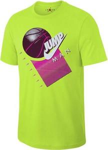 T-shirt Jordan z krótkim rękawem z bawełny w młodzieżowym stylu