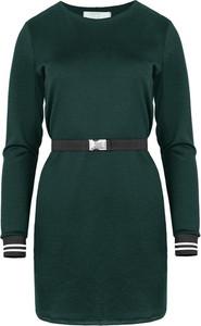 Zielona sukienka ELEONORA PORTERA z długim rękawem mini