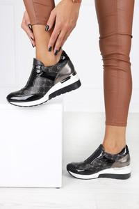 Buty sportowe Aga z płaską podeszwą sznurowane ze skóry