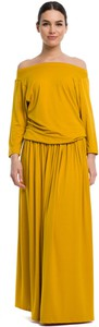 Sukienka Rennwear z długim rękawem maxi z bawełny