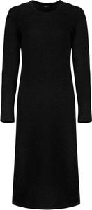 Czarna sukienka Nife z długim rękawem