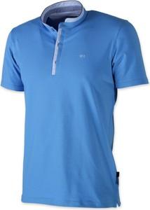 Niebieska koszulka polo Willsoor w stylu casual z krótkim rękawem