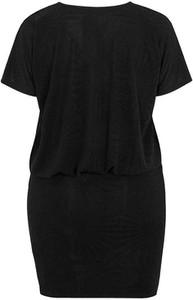 Czarna sukienka Zhenzi mini z okrągłym dekoltem