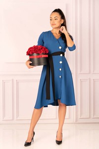 Niebieska sukienka MERRIBEL