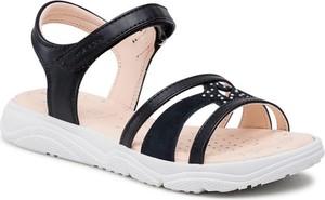 Czarne sandały Geox z klamrami