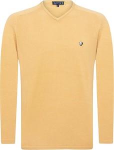 Żółty sweter Sir Raymond Tailor z bawełny