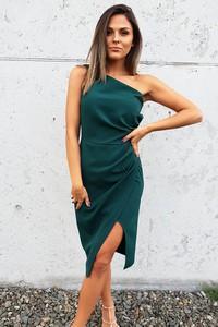 Sukienka fashion-freak.pl bez rękawów asymetryczna