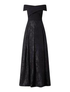 Sukienka Christian Berg Cocktail z szyfonu z odkrytymi ramionami hiszpanka