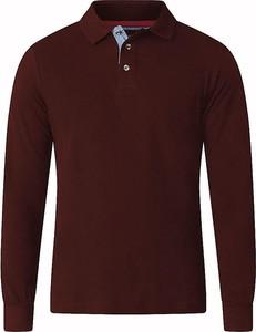 Czerwona koszulka polo Duke Of London z tkaniny z długim rękawem