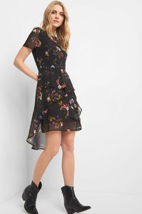 Sukienka ORSAY z okrągłym dekoltem asymetryczna z tkaniny