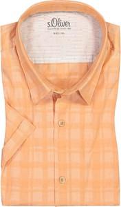 Koszula S.Oliver w stylu casual z krótkim rękawem z bawełny