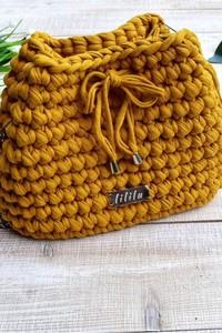 Żółta torebka Lililu na ramię